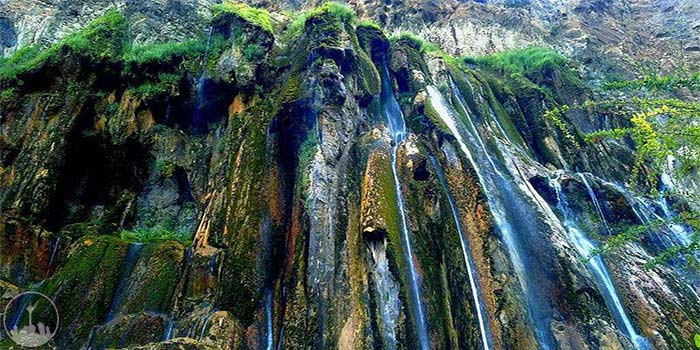 Margoon Waterfall,iran tourism